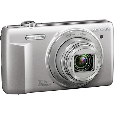 VR-340 16MP 10x Opt Zoom 3-inch LCD Digital Camera - Silver