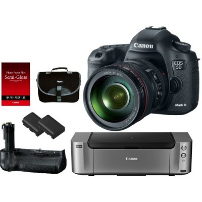 EOS 5D Mark III 22.3 MP Full Frame CMOS Digital SLR w/ 24-105mm Lens Pro Kit