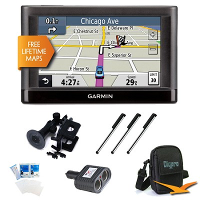 nuvi 44LM US and Canada 4.3` GPS with Lifetime Map Updates Ultimate Bundle