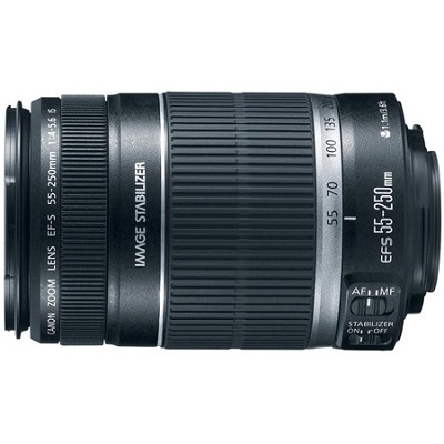 EF-S 55-250mm f/4-5.6 IS II (Stabilized) Telephoto Lens with Canon USA Warranty
