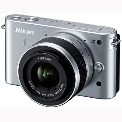 1 J2 SLR Silver Digital Camera w/ 10-30mm VR Lens (27574)