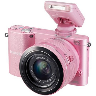 NX1000 20.3 MP Compact System Camera (Pink) With 20-50 Lens