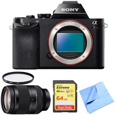 A7R (Alpha 7R) Interchangeable Lens Camera Body 24-240mm Zoom Lens Bundle