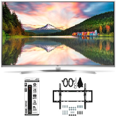 55UH8500 - 55-Inch Super Ultra HD 4K Smart LED TV Flat + Tilt Wall Mount Bundle
