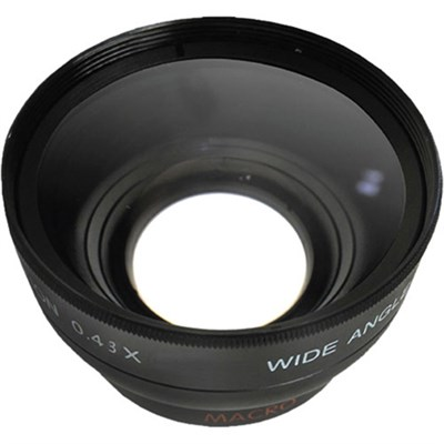Pro .43x Wide Angle Lens w/ Macro 55mm Threading (Black)