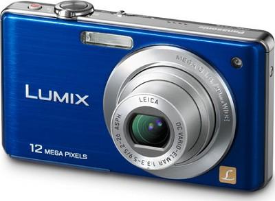 DMC-FS15A LUMIX 12.1 MP Digital Camera w/ 5x Optical Zoom (Blue) Open Box