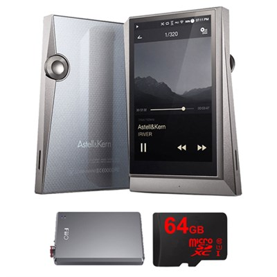 AK320 Hi-Res Portable Music Player w/ FiiO E12 Portable Headphone Amp Bundle
