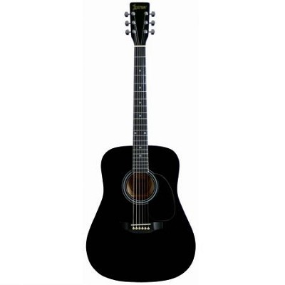 LA125BK Dreadnought Acoustic Guitar - Black