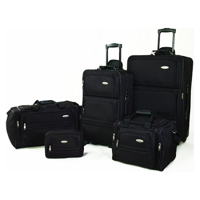 5 Piece Nested Luggage Set (Black)