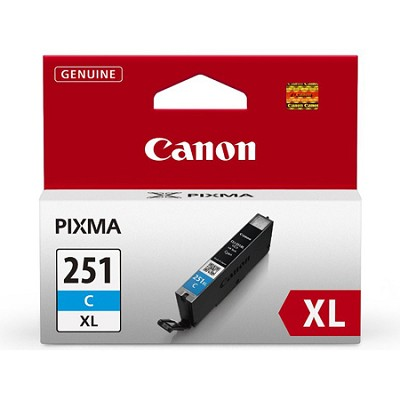 CLI-251 Cyan XL Ink Tank for PIXMA iP7220, MG5420, MG6320 Printers