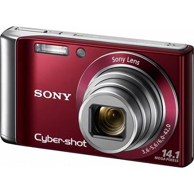 Cyber-shot DSC-W370 14MP Red Digital Camera w/ 720p HD Video