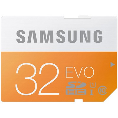 SDHC 32GB EVO Class 10 Memory Card Speeds up to 48MB/s - MB-SP32D