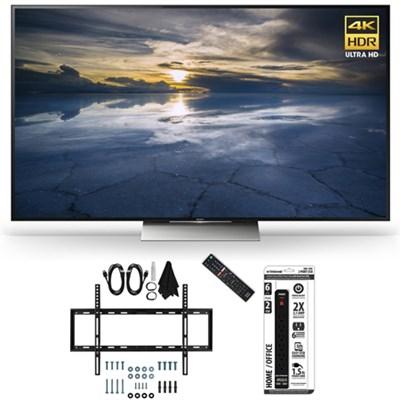 XBR-55X930D 55-Inch Class 4K HDR Ultra HD TV Slim Flat Wall Mount Bundle