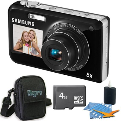 PL170 DualView 16 Megapixel Digital Camera - Black 4 GB Bundle