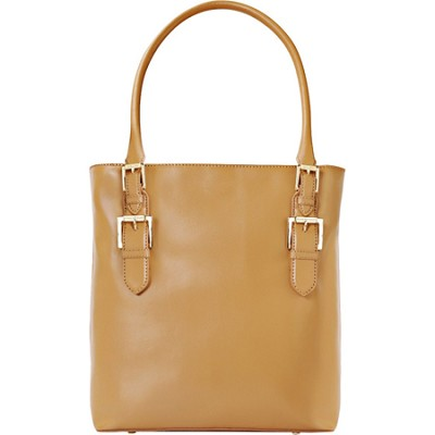 Isaac Mizrahi `EMILY` Genuine Leather Camera Tote - Camel