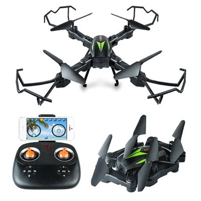A200 WiFi Foldable Quadcopter Drone w/ 720P HD 2MP Camera + 6-Axis Gyro for Kids