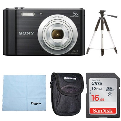 DSC-W800 Point and Shoot Digital Still Camera Black Kit