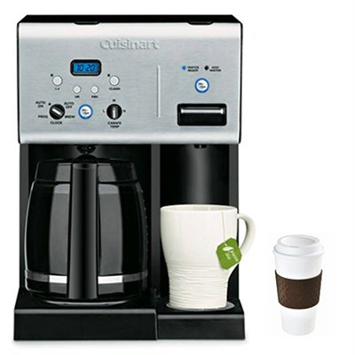 CHW-12 Coffee Plus 12-Cup Programmable Coffeemaker with Hot Water System, Black