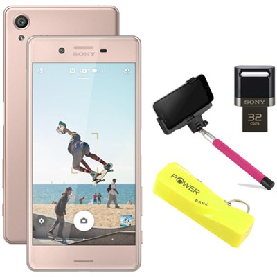 Xperia X 32GB 5` Smartphone Unlocked Mobile Selfie Bundle - Rose Gold