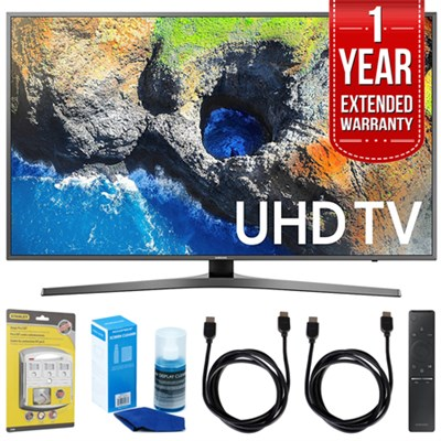 40` UHD 4K HDR LED Smart HDTV (2017 Model) w/ Extended Warranty Bundle