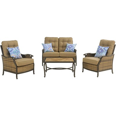 Hudson Square 4-Piece Seating Set - HUDSONSQ4PC