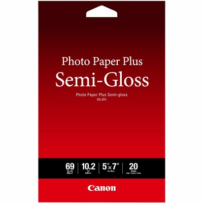 Photo Paper Plus Semi-Gloss 5` x 7` (20 Sheets) ( SG-201 5X7) (1686B061)