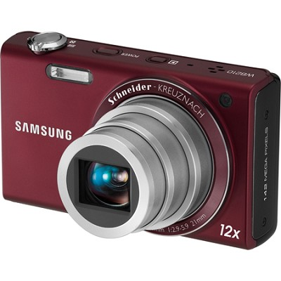 WB210 14MP Burgundy 12x Zoom Digital Camera w/ 3.5 inch Touch Screen
