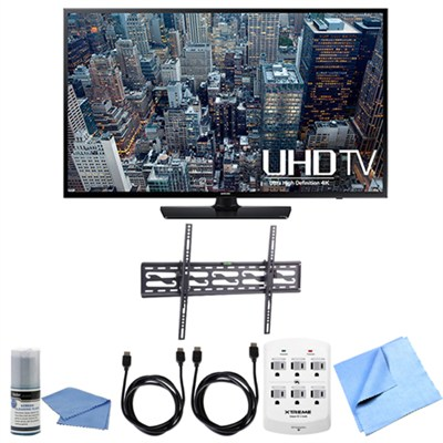 UN65JU6400 - 65-Inch 4K Ultra HD Smart LED HDTV Tilting Wall Mount Bundle