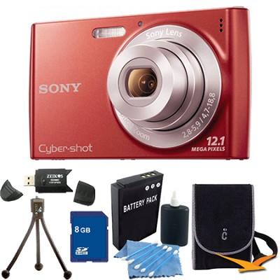 Cyber-shot DSC-W510 Red Digital Camera 8GB Bundle