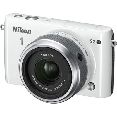 1 S2 Mirrorless 14.2MP Digital Camera with 11-27.5mm Lens (White) Refurbished