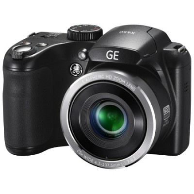 16MP HD 720p Bridge Digital Camera 25X 2.7` LCD (Black) X450