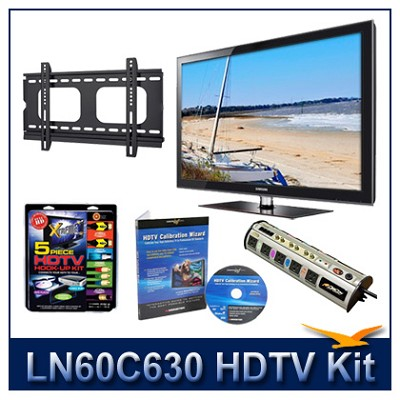 LN60C630 55` HDTV + Flat Mount + Hook-Up + Power Protection + Calibration DVD