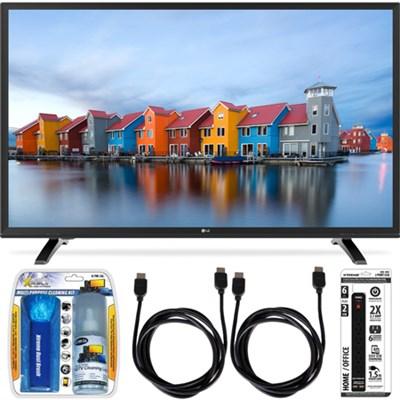 32LH500B 32-Inch HD 720p 60Hz LED TV Essential Accessory Bundle