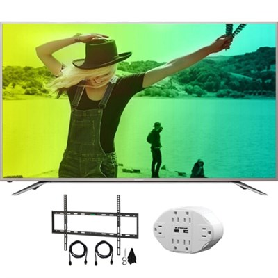 Aquos N7000 65` Class 4K Ultra WiFi Smart LED HDTV w/ Wall Mount Kit