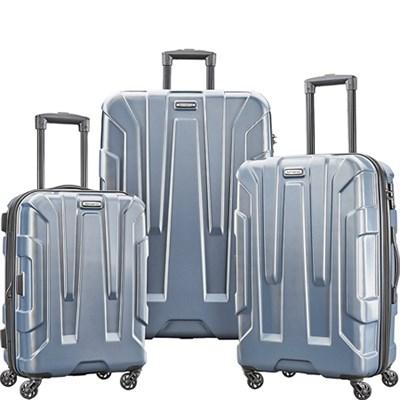 Centric 3pc Nested Hardside (20/24/28) Luggage Set, Blue Slate
