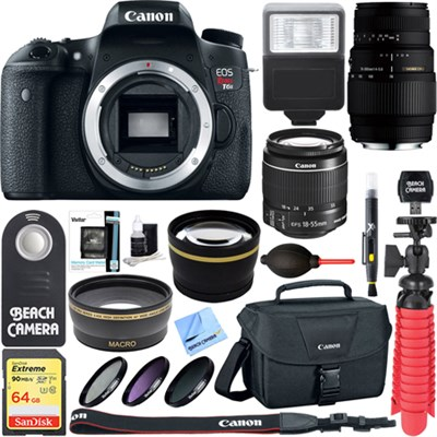 EOS Rebel T6s DSLR Camera with EF-S 18-55mm IS STM & 70-300mm Lens Accessory Kit