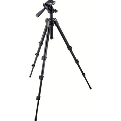 Compact Tripod W/Alu.3-Way Head, w/Bag 7301yb - OPEN BOX