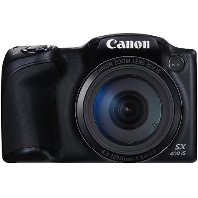 Powershot SX400 IS 16MP 30x Optical Zoom 720p HD Digital Camera - Black