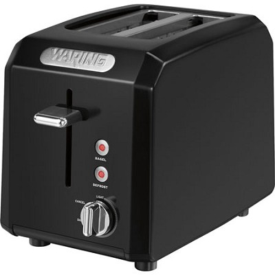 Cool Touch 2-Slice Black Toaster