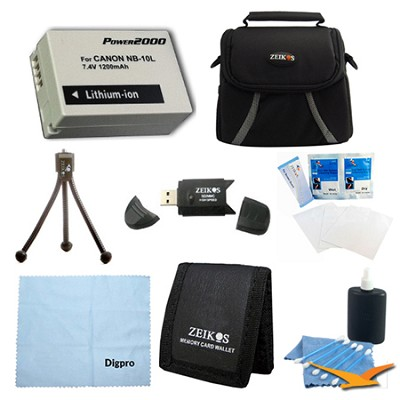 Loaded Value NB-10L Kit For Canon Powershot SX40,SX50, G15,G16 & G1X