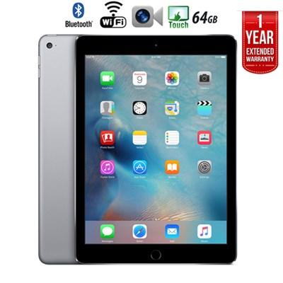 iPad Air 2 64GB Wifi + 1 Year Extended WARRANTY - (Certified Refurbished)