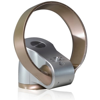 12 inch Bladeless Oscillating Fan Gold/Silver