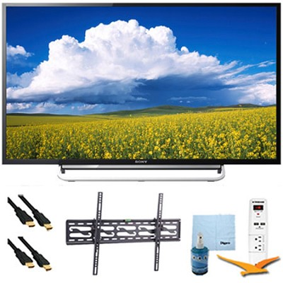 60` 1080p LED Smart HDTV Motionflow XR 480 Tilt Mount & HookUp Bundle KDL60W630B