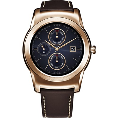Watch Urbane Smartwatch Gold with Brown Leather Strap
