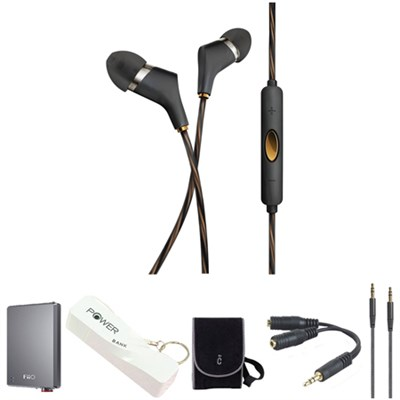 X6i In-Ear Headphones (Black) with Headphone Kit