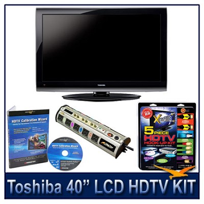 40E200U 40` 1080p LCD HDTV + Hook-Up + Power Protection + Calibration DVD