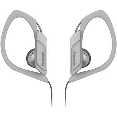 Water-Resistant Sport Clip Adjustable Earbud Headphones, White