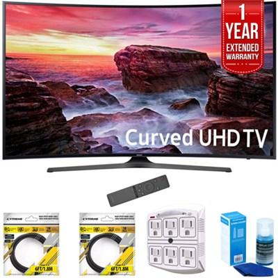 49` Curved 4K Ultra HD Smart LED TV 2017 Model w/ Extended Warranty Kit