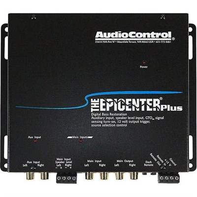 The Epicenter Plus Black Bass Restoration Processor with OEM Interface