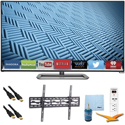 M652i-B - 65` 1080p 240Hz Ultra-Slim LED Smart HDTV Tilt Mount & Hook-Up Bundle
